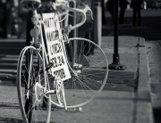Photo of Matt's ghost bike. © Gavin Gould.
